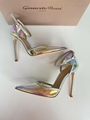 GIANVITO ROSSI ANKLE STRAP PUMP HOLOGRAM MIRRORED PVC POINTED TOE shoes 3
