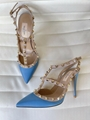 GIANVITO ROSSI ANKLE STRAP PUMP HOLOGRAM MIRRORED PVC POINTED TOE shoes 20