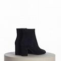SAINT LAURENT PARIS women Loulou Bootie Black Suede heel high shoes 3