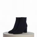 SAINT LAURENT PARIS women Loulou Bootie Black Suede heel high shoes 4