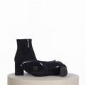 SAINT LAURENT PARIS women Loulou Bootie Black Suede heel high shoes 7