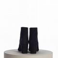 SAINT LAURENT PARIS women Loulou Bootie Black Suede heel high shoes 8