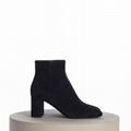 SAINT LAURENT PARIS women Loulou Bootie Black Suede heel high shoes 9