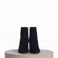 SAINT LAURENT PARIS women Loulou Bootie Black Suede heel high shoes 10