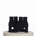 SAINT LAURENT PARIS women Loulou Bootie Black Suede heel high shoes 11