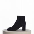 SAINT LAURENT PARIS women Loulou Bootie Black Suede heel high shoes 12