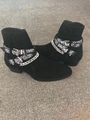 SAINT LAURENT PARIS women Loulou Bootie Black Suede heel high shoes 19