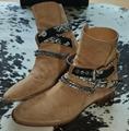 SAINT LAURENT PARIS women Loulou Bootie Black Suede heel high shoes 20