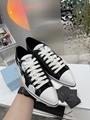 Printed cotton gabardine sneakers