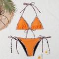 Mata Bikini Women Stretch nylon jersey swimwear women Sandy beach swims