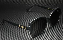 GG Women's Sunglasses GG0765SA 002 57 mm Black Shiny Grey Square