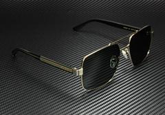 GG Men's Sunglasses GG0529S 001 60 mm Aviator Glasses Gold Black Crystal Grey