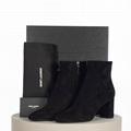 SAINT LAURENT PARIS Black Smooth Leather