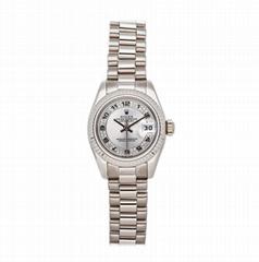 Rolex Datejust Auto 179179 Ladies President Bracelet Watches White Gold Diamonds