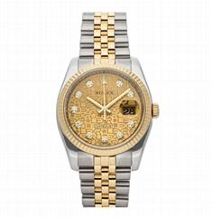 Rolex Datejust Auto 116233 Watches Jubilee Bracelet Watch Steel Gold Diamonds Me