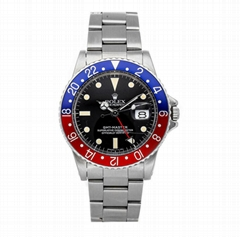 Rolex GMT-Master 1675 Mens Oyster Bracelet Watches Date Pepsi Automatic 40mm Ste (Hot Product - 1*)