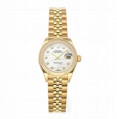 Rolex Datejust Auto 279178 28mm Ladies Bracelet Watches Yellow Gold Diamonds