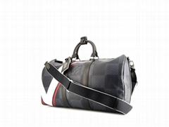 Keepall cup weekend bag cobalt damier canvas travel bag
