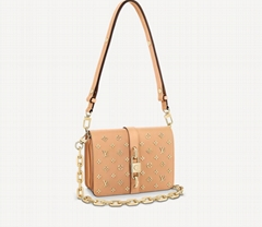 M58635 Rendez-Vous handbag Monogram Flowers chunky nautical chain