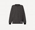 1A93I5 Monogram Jacquard Knit Sweater