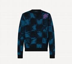 1A8XD8 Damier Salt Jacquard Crewneck weave men sweaters