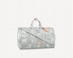 N50069 Keepall Bandoulière 50 Damier Salt canvas travel bags (Hot Product - 1*)