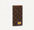 M80523 Brazza Wallet Monogram canvas bags cheaper price men wallet