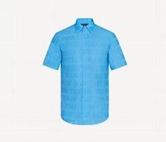 1A8XBO Short-sleeved Tonal Letters Shirt summery piece men shirt