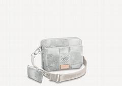 N50068 Trio Messenger Mens Damier Salt canvas shoulder bag