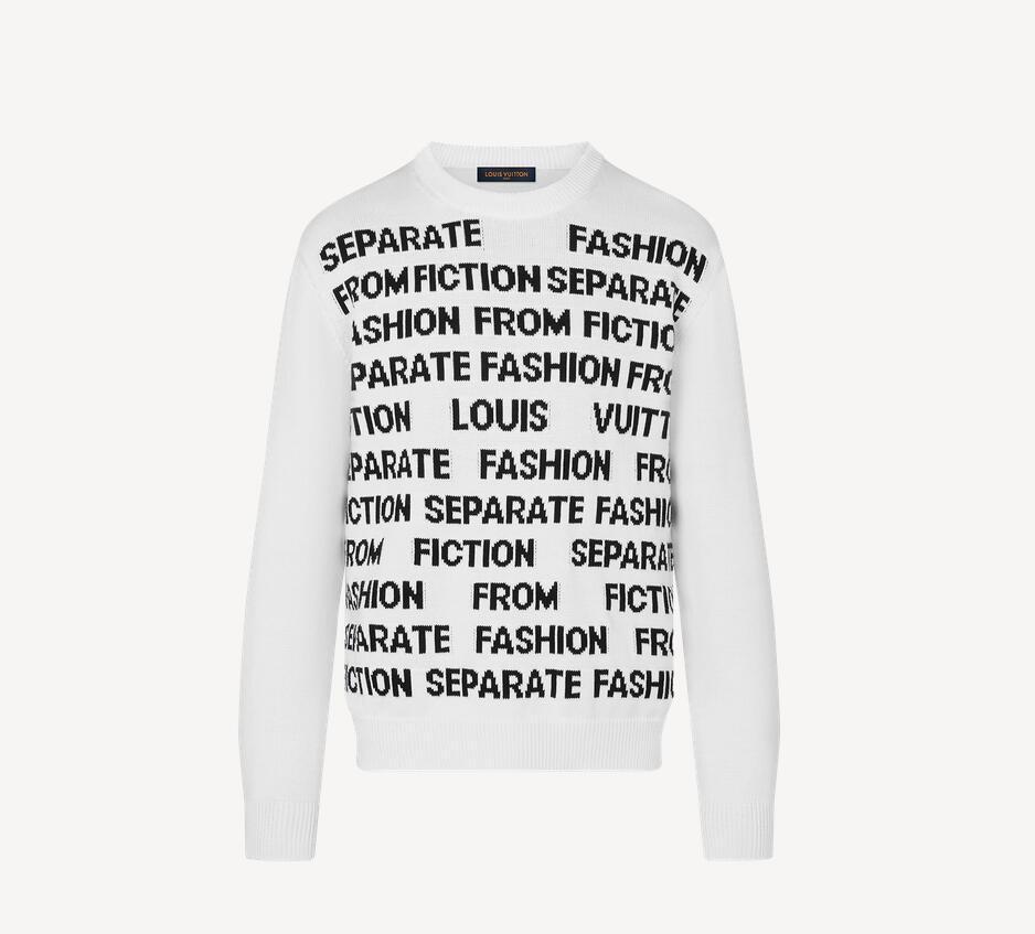 1A8WSW Letters Sweater season's    Letters theme men long shirt 1