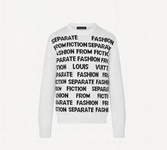 1A8WSW Letters Sweater season's    Letters theme men long shirt