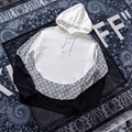 20ss Monogram Hoodie circle cut mens hoodie 1