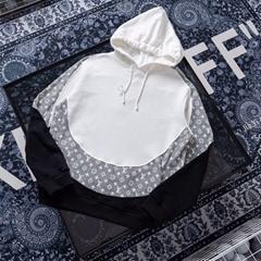 20ss Monogram Hoodie circle cut mens hoodie