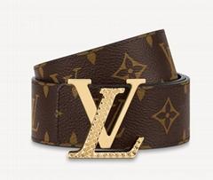 Louis Vuitt Diamond 40MM Reversible Belt mens double-sided strap Monogram canvas