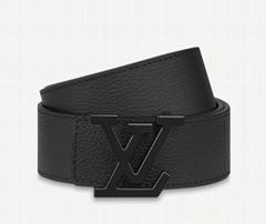 Louis Vuitt    Aerogram 35MM Belt mens matte finish strap design luxury belt