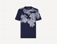 1A8QWG Tee Shirt Watercolor Monogram short sleeve mens tee