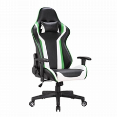 High back swivel colorful pu leather gaming desk computer table club chair