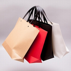 Custom Luxury Kraft Clothing Garment Packaging Shopping Paper Bags for Clothes