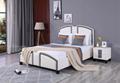 European Style Leather Platform Bed 2