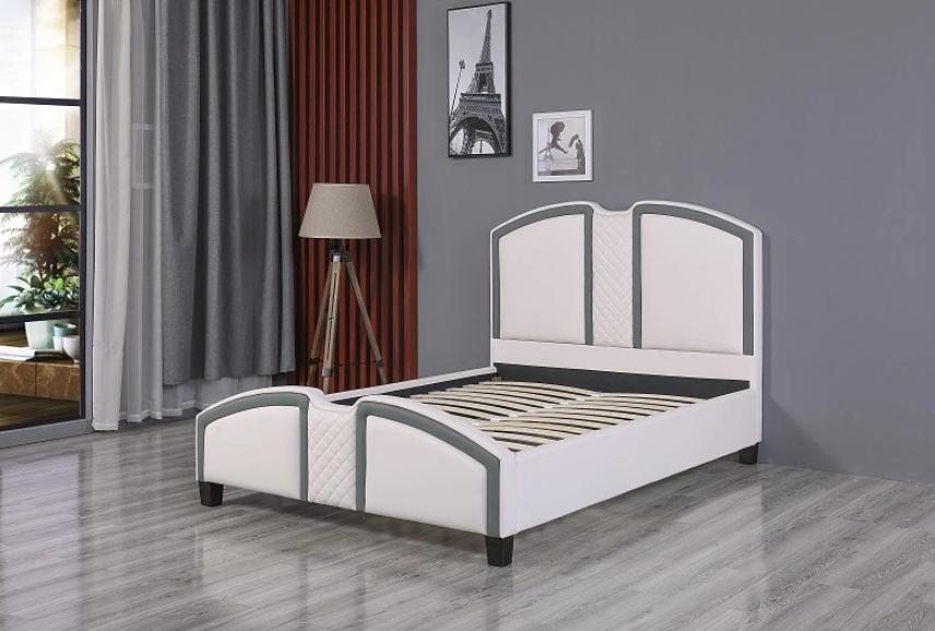 European Style Leather Platform Bed 5