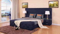 Upholstered Luxury European Fabric Bed