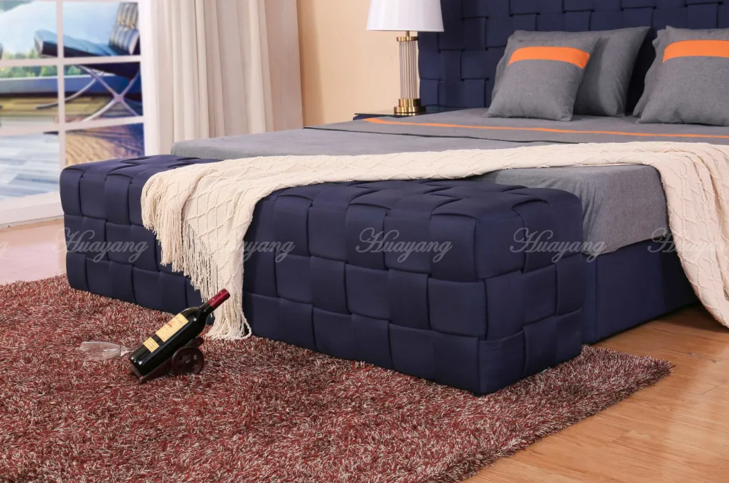 Upholstered Luxury European Fabric Bed 4