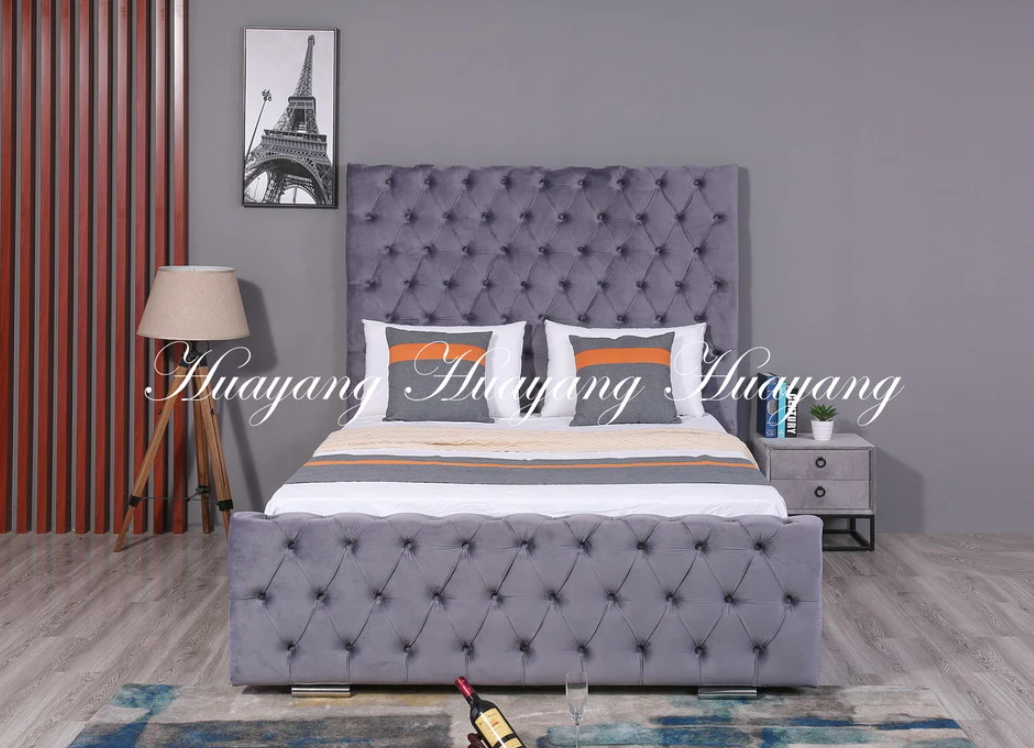 High Headboard Upholstered Bed 2