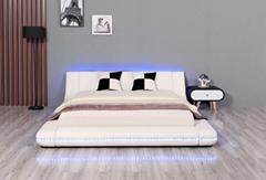 Leather Beds LED King Size Bed Bedroom Furniture