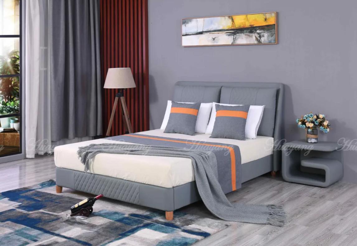 Leather Platform Bed Full 2