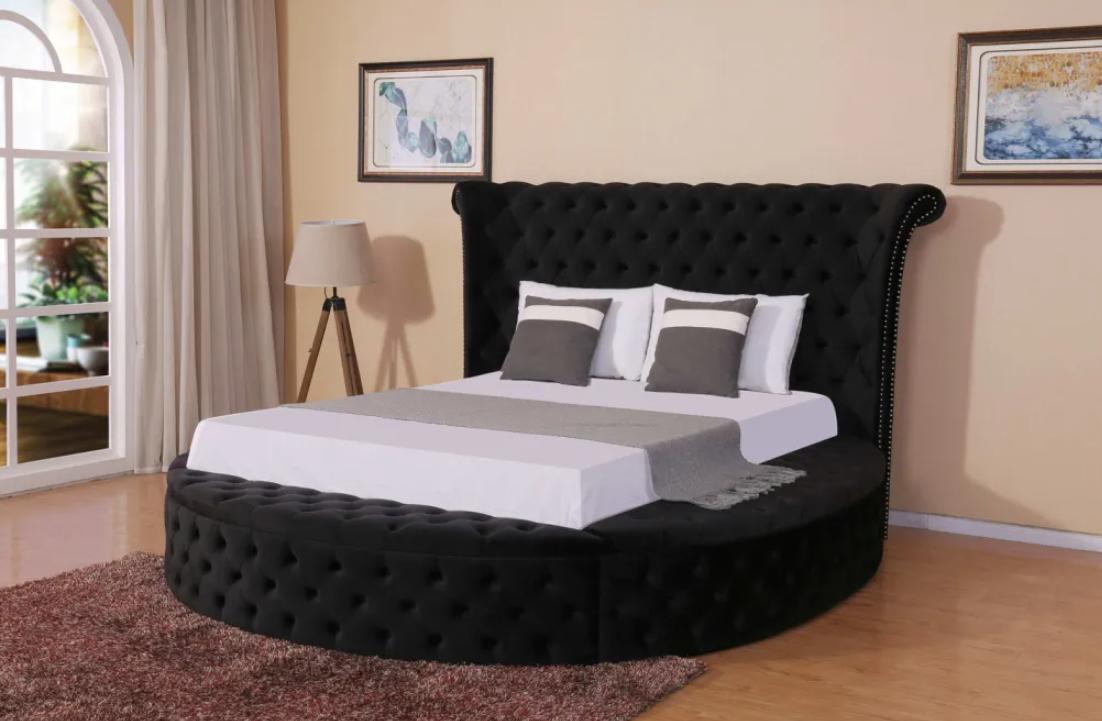 Elegant Round Ve  et Bed 1