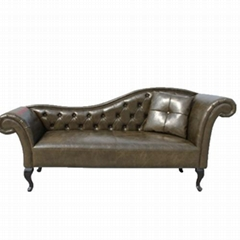 Modern Furniture Home Leather European Luxury Retro Sofa Bed