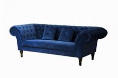 3 Seat Sofa Ve  et Sofa Fabric Sofa Hotel Furniture Sofa Bed