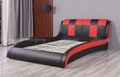 Double Color PU Bed Double Bed Bedroom Bed King Bed Sofa Bed Modern Bedroom Furn 1