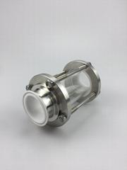 卫生级快装衬氟视镜 卡盘式法兰式螺纹式接口
